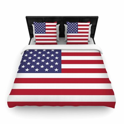 Bruce Stanfield Flag of USA Contemporary Digital Woven Duvet Cover Size: King