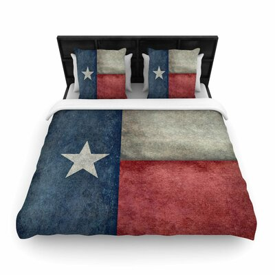 Bruce Stanfield Texas State Flag Vintage Digital Woven Duvet Cover Size: Full/Queen