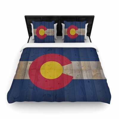 Bruce Stanfield Flag of Colorado Woven Duvet Cover Size: King