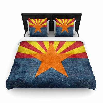 Bruce Sfield Arizona State Flag Retro Style Woven Duvet Cover Size: Twin