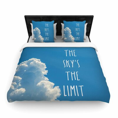 Bruce Stanfield The Skys the Limit Square Woven Duvet Cover Size: King