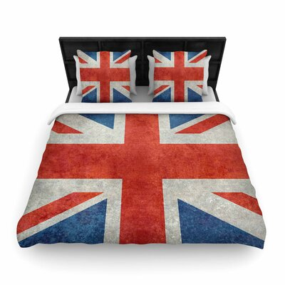 Bruce Stanfield UK Union Jack Flag Woven Duvet Cover Size: Full/Queen