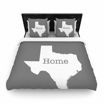 Bruce Stanfield Texas is Home Woven Duvet Cover Size: Twin