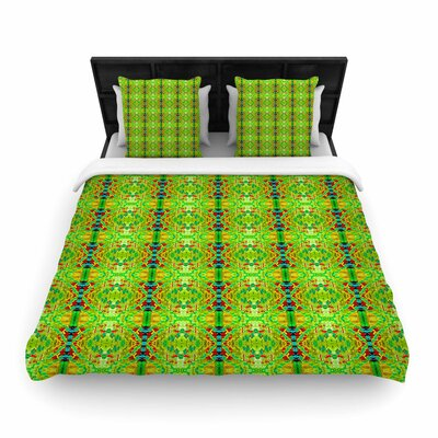 Bruce Sfield Rage Against the Machine BW Woven Duvet Cover Color: Green, Size: Full/Queen