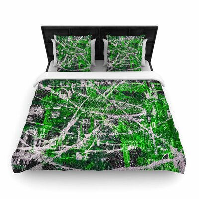 Bruce Stanfield Jade Woven Duvet Cover Size: King