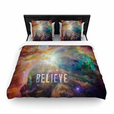 Bruce Stanfield Orion Nebula Believe Woven Duvet Cover Size: King