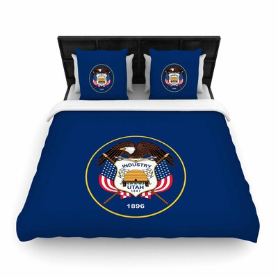 Bruce Stanfield Utah State Flag Authentic Woven Duvet Cover Size: King