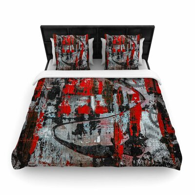 Bruce Stanfield Zinger in Red Woven Duvet Cover Size: Twin