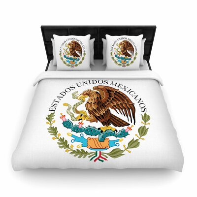 Bruce Stanfield Mexico Emblem Woven Duvet Cover Size: King