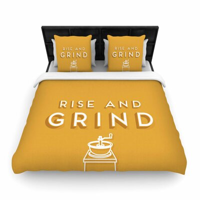 Busy Bree Rise and Grind Illustration Woven Duvet Cover Size: Twin