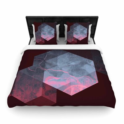 Cafelab Dramatic Geometry Geometric Woven Duvet Cover Size: Twin