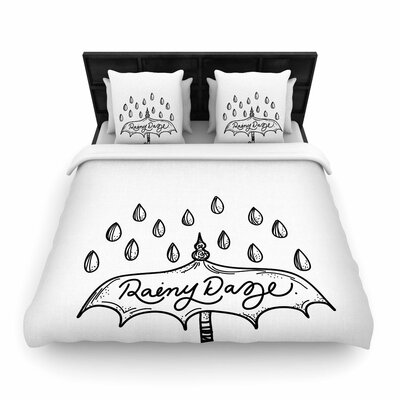 Busy Bree Rainy Daze Woven Duvet Cover Size: King