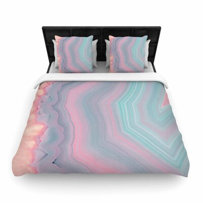 Cafelab Sweet Pastel Agate Woven Duvet Cover Size: King