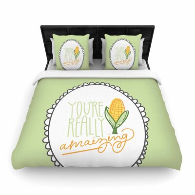 Busy Bree Amamzing Woven Duvet Cover Size: King