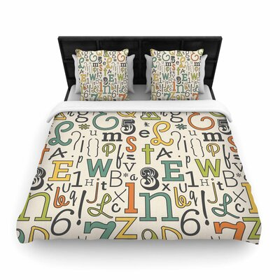 Busy Bree ABC Letters Woven Duvet Cover Size: King