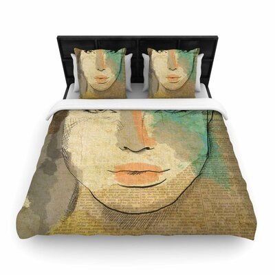 Carina Povarchik Agata People Woven Duvet Cover