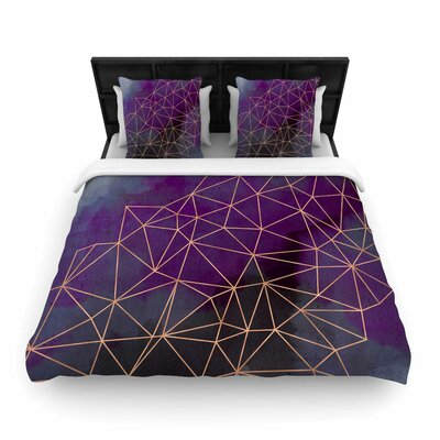 Cafelab Watercolor Storm Woven Duvet Cover Size: Full/Queen