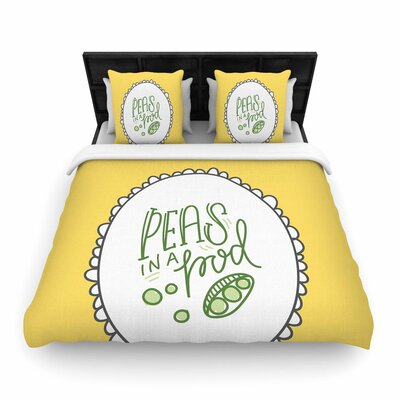 Busy Bree Peas in a Pod Woven Duvet Cover Size: Full/Queen