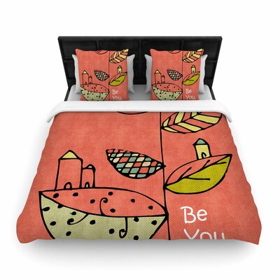 Carina Povarchik Be You Kids Woven Duvet Cover Size: Full/Queen