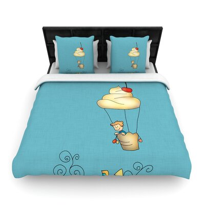 Carina Povarchik Sweet World Woven Duvet Cover Size: Twin