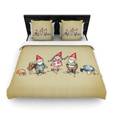 Carina Povarchik Gnomes Woven Duvet Cover Size: Full/Queen