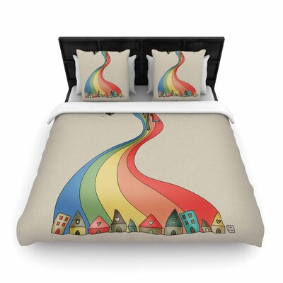 Carina Povarchik Weeeee Fantasy  Woven Duvet Cover Size: Full/Queen