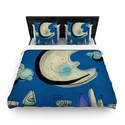 Carina Povarchik Moon Woven Duvet Cover Size: King