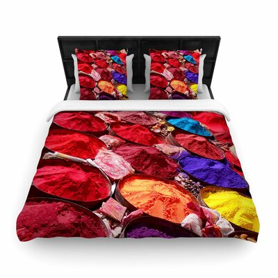 Carina Povarchik Indian Powders Photography Woven Duvet Cover Size: Twin