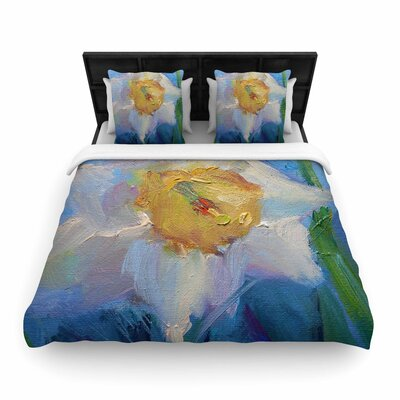 Carol Schiff Daffodil Day Woven Duvet Cover Size: Full/Queen