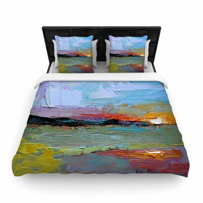 Carol Schiff Hues Painting Woven Duvet Cover Size: Full/Queen