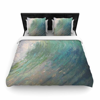 Carol Schiff Wall of Water Woven Duvet Cover Size: Full/Queen