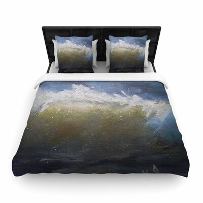 Carol Schiff The Curl Painting Woven Duvet Cover Size: King