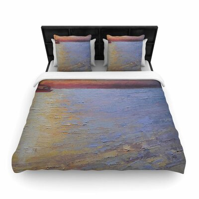 Carol Schiff Evening Anchor Painting Woven Duvet Cover Size: King