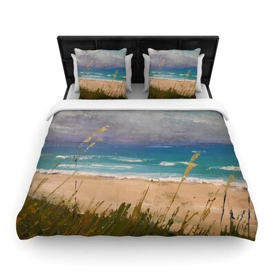 Carol Schiff Florida Beach Scene Woven Duvet Cover Size: Full/Queen