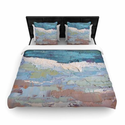 Carol Schiff On the Beach Woven Duvet Cover Size: King