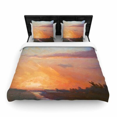 Carol Schiff Golden Hour Over the Marsh Woven Duvet Cover Size: King