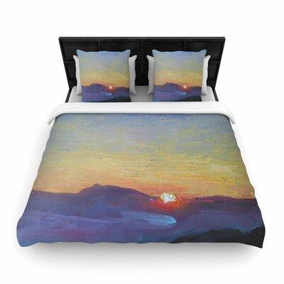 Carol Schiff Mountain Sunset Woven Duvet Cover Size: King
