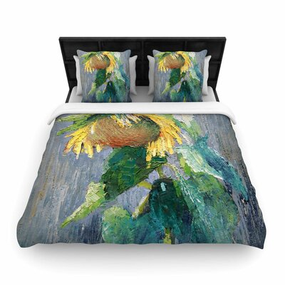 Carol Schiff Lonely Sunflower Woven Duvet Cover Size: King