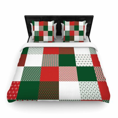 Carolyn Greifeld Holiday Patchwork Woven Duvet Cover Size: King