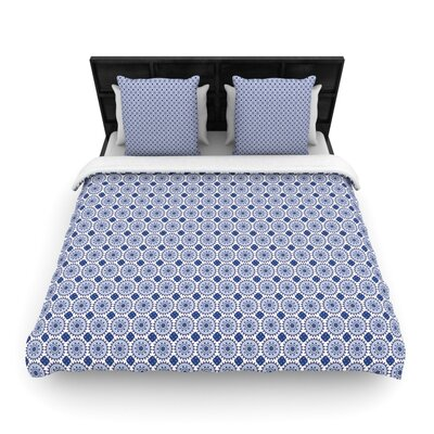 Carolyn Greifeld 'Bohemian Blues II' Woven Duvet Cover Size: Twin, Color: Blue