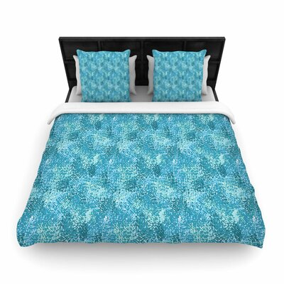 Carolyn Greifeld Painterly Pastels Abstract Woven Duvet Cover Color: Blue, Size: King