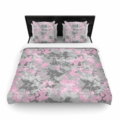 Carolyn Greifeld 'Blissed' Digital Woven Duvet Cover Size: King