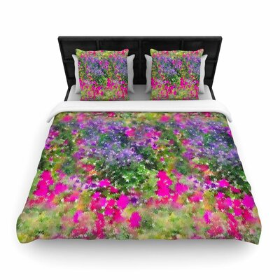 Carolyn Greifeld Water Florals Woven Duvet Cover Size: King