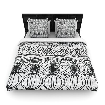 Catherine Holcombe Blanket of Confusion Woven Duvet Cover Size: Twin