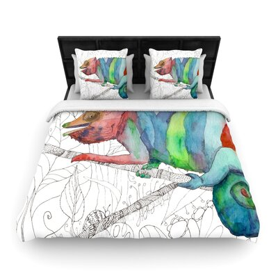 Catherine Holcombe Chameleon Fail Woven Duvet Cover Size: Full/Queen