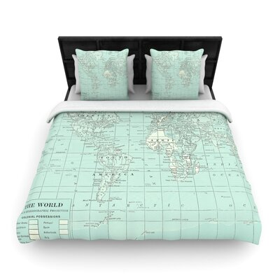 Catherine Holcombe The Old World Woven Duvet Cover Size: Twin, Color: Blue