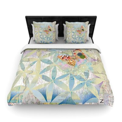Catherine Holcombe Miraculous Recovery Butterfly Woven Duvet Cover Size: Full/Queen