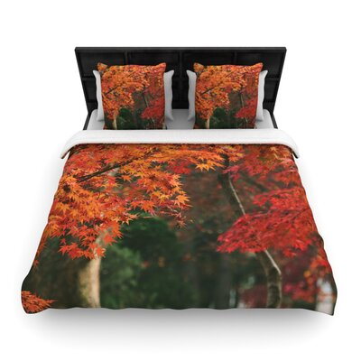 Catherine McDonald Autumn Sonata Woven Duvet Cover Size: King