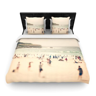 Catherine McDonald Bondi Beach Woven Duvet Cover Size: Twin
