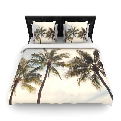 Catherine McDonald Boho Palms Trees Woven Duvet Cover Size: King